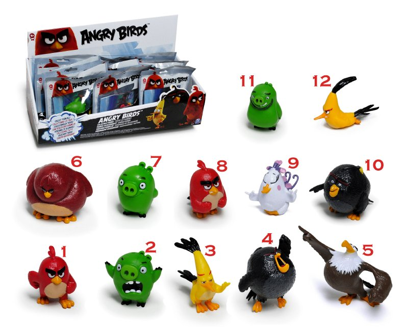 Figura Coleccionable Angry Birds 5 Cm.