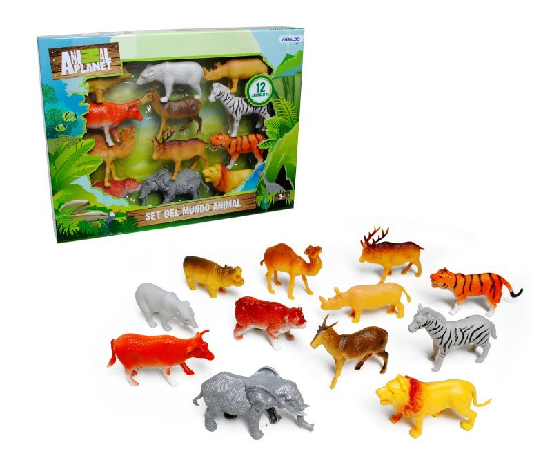 Set 12 Animales 11 Cm. Animal Planet