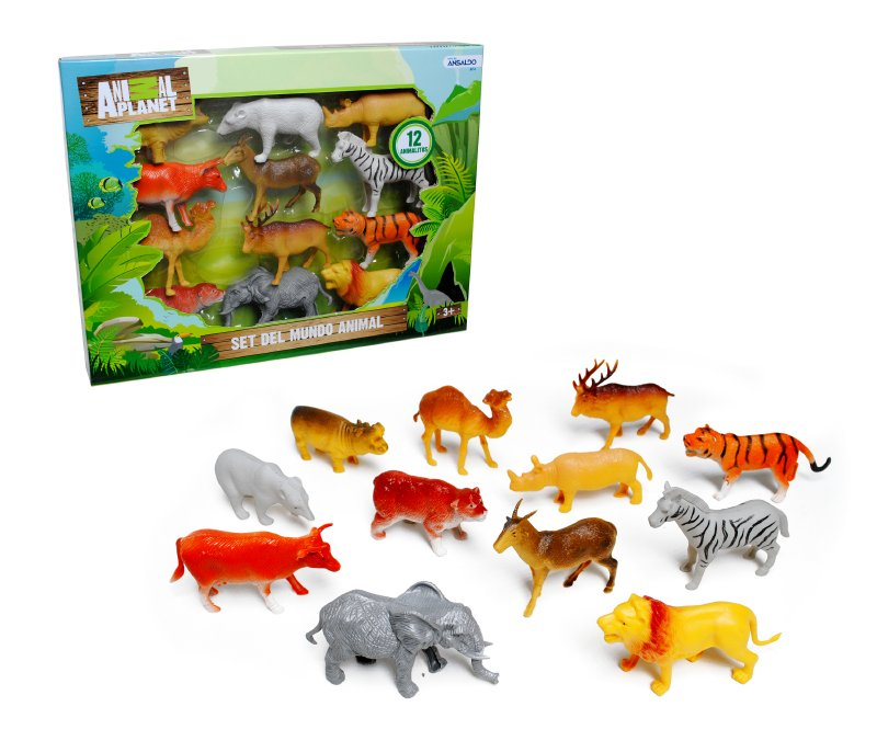 ANIMAL PLANET Set 12 Animales 11 Cm. Animal Planet