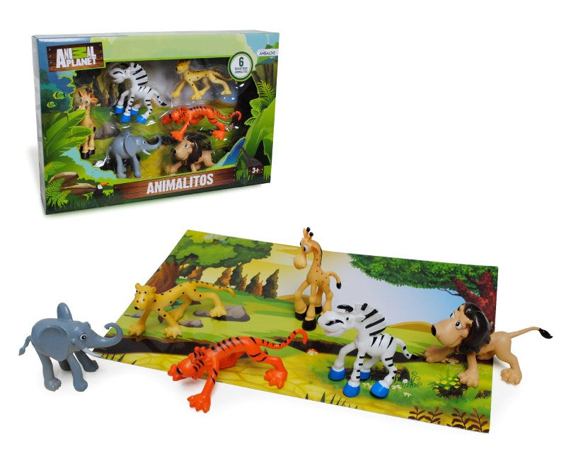 ANIMAL PLANET Set De 6 Animales Pre Escolare Animal P