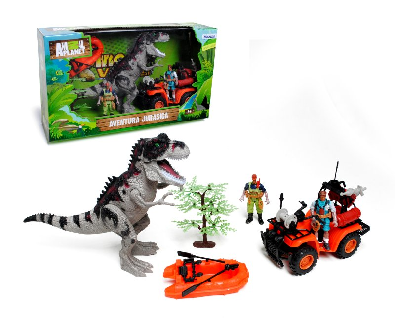 ANIMAL PLANET Playset Dinosaurio Con Cuadrimoto Anima