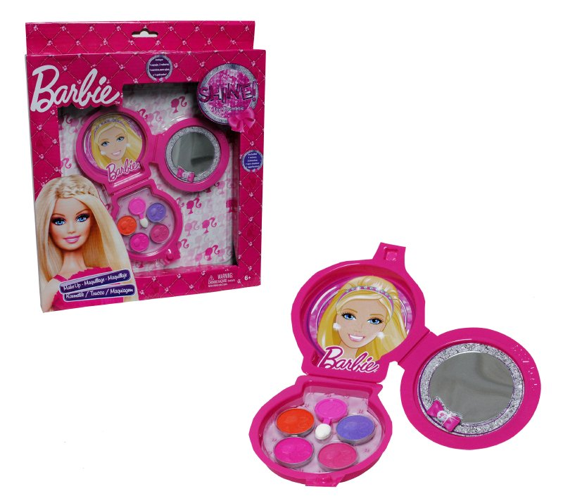 Cosmetiquero Redondo Triple Barbie Cosm