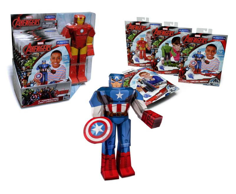 Figura 30 Cm. Papel Armable Marvel