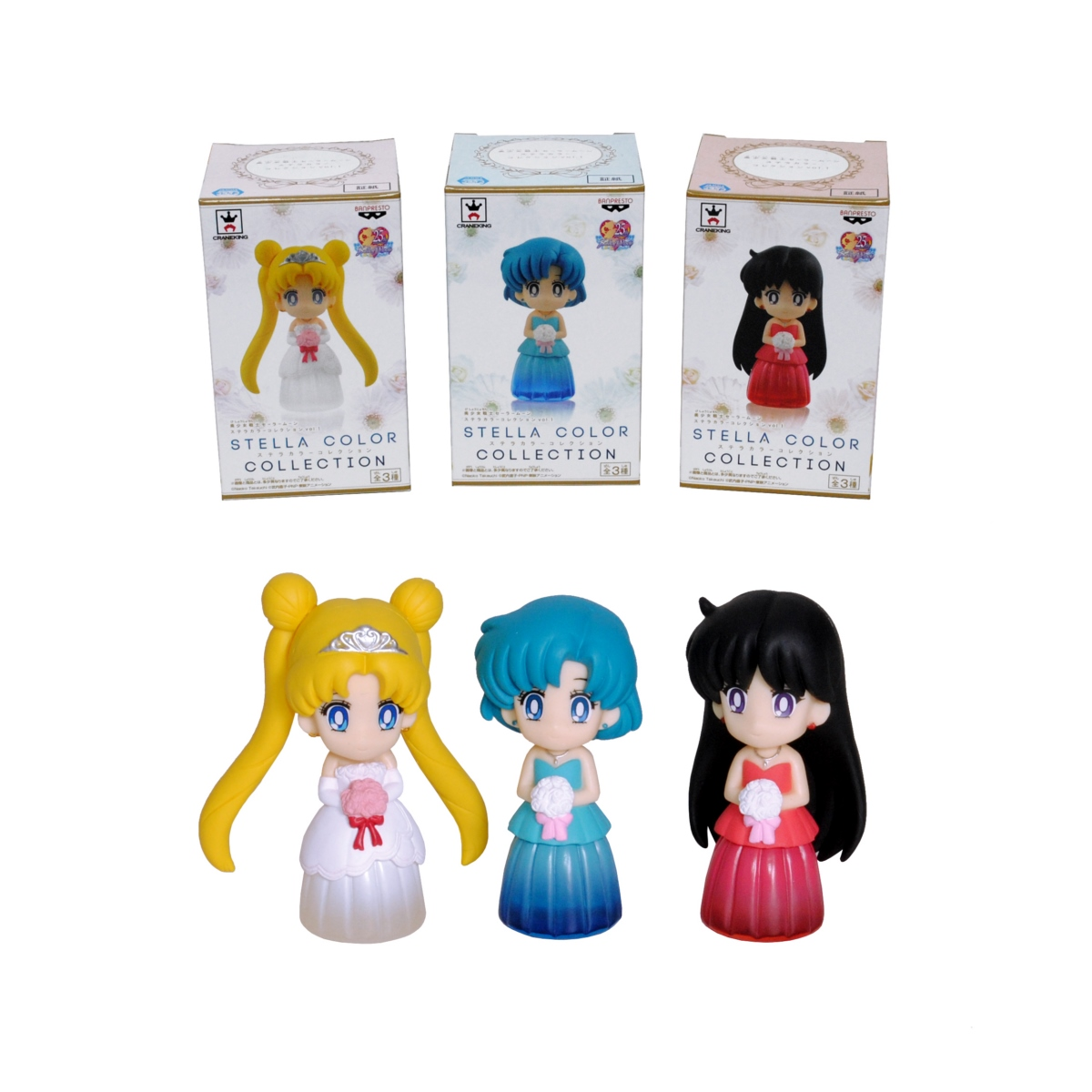 COLLECTORS Figura 6 Cm. Clear Colored Sparkle Dres