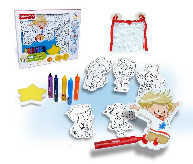 FISHER PRICE TOYS Set Figuras Para Colorear Bano Fisher Price