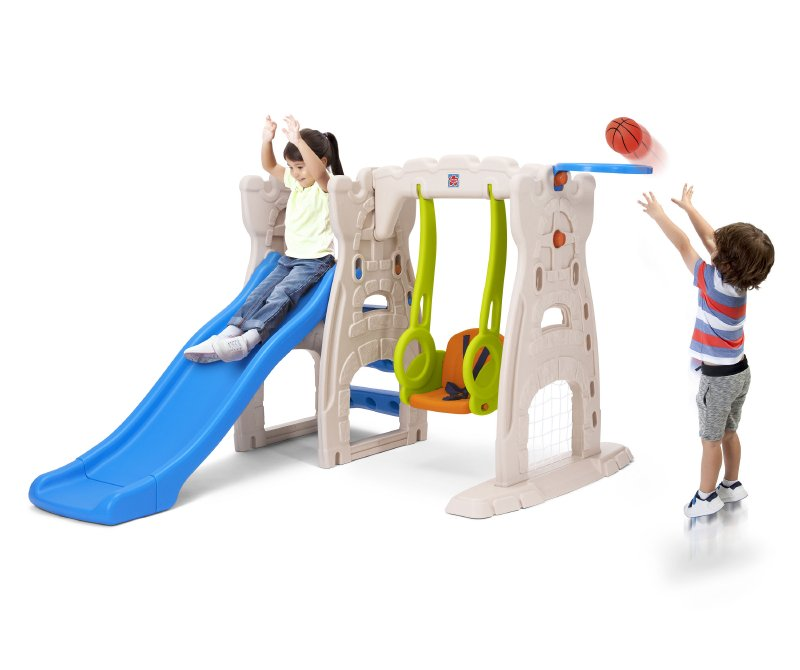 GROW AND UP Centro Juego Con Resfalin, Columpio Y A