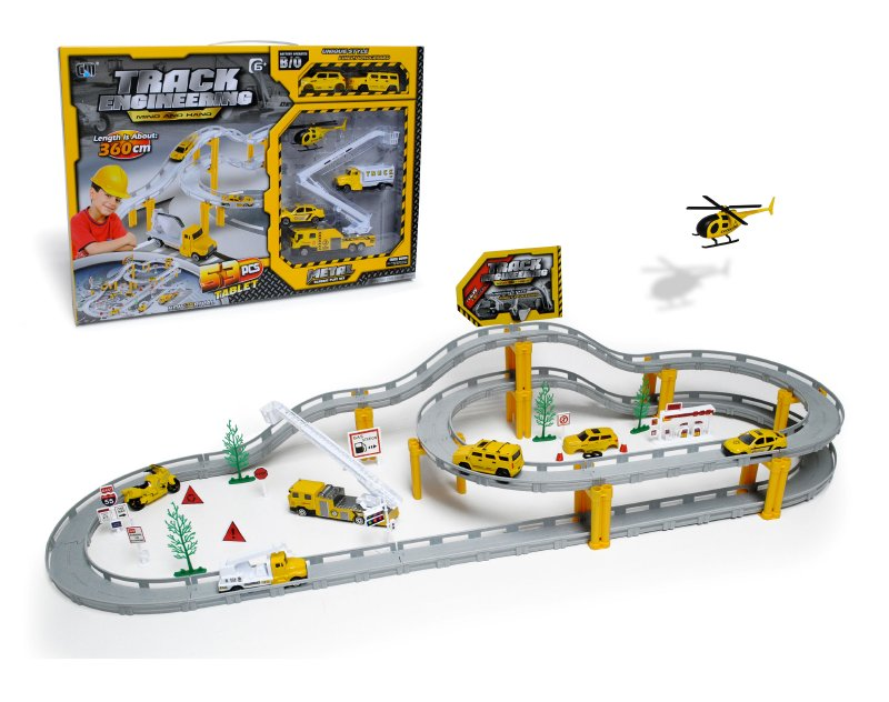 Playset Construccion Con Pista Y Vehicu