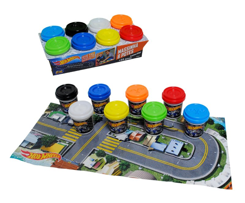 Set 8 Potes De Masas Hot Wheels Con Acc