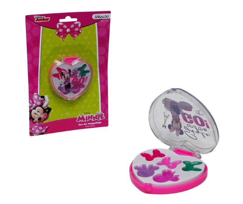 Set De Maquillaje Corazon Minnie