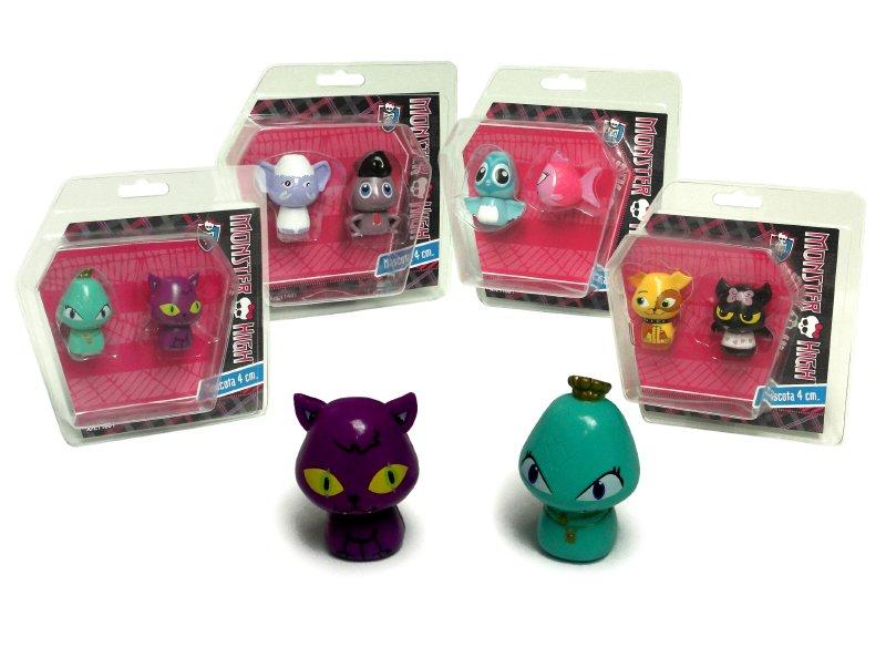 MONSTER HIGH Set 2 Mascotas De 4 Cm Monster High