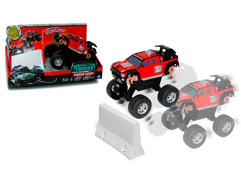 MONSTER TRUCKS Camioneta De Salto  Ragin Red  Monster