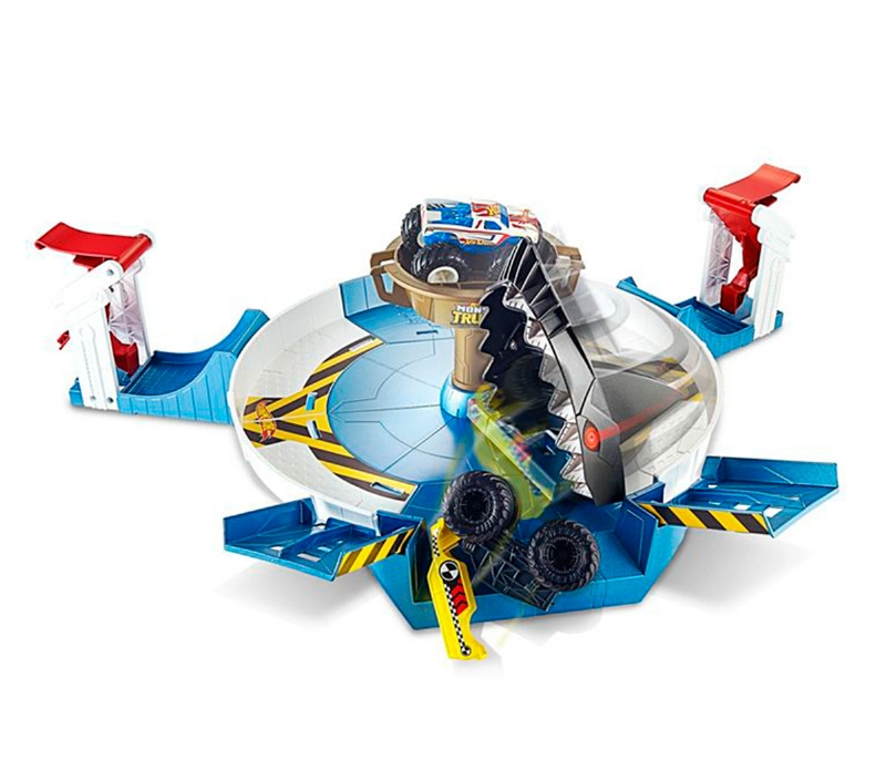 Hot Wheels Monster Truck Set De Tiburon