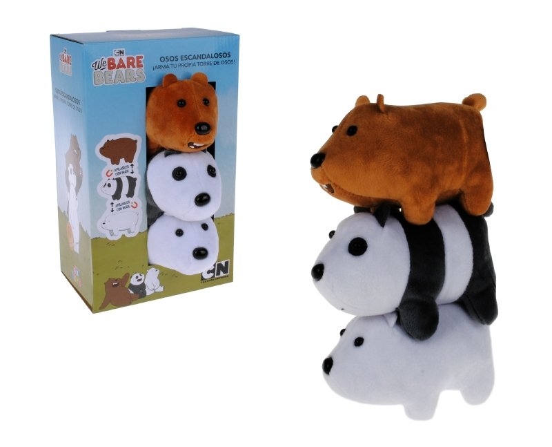 Pack 3 Peluches 13 Cm. Con Iman