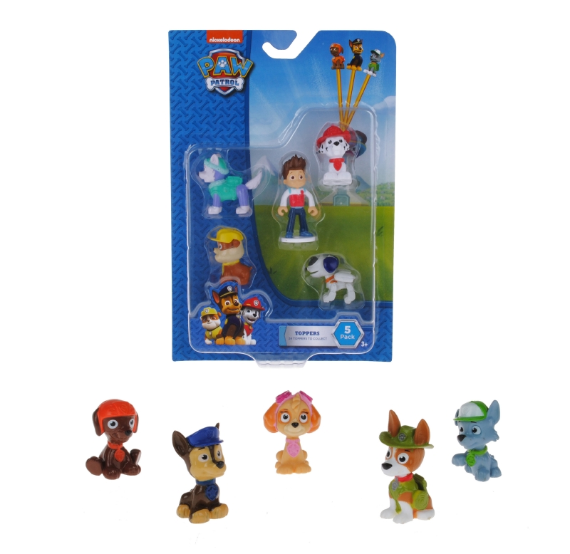Pack 5 Figuras Pencil Topper Paw Patrol
