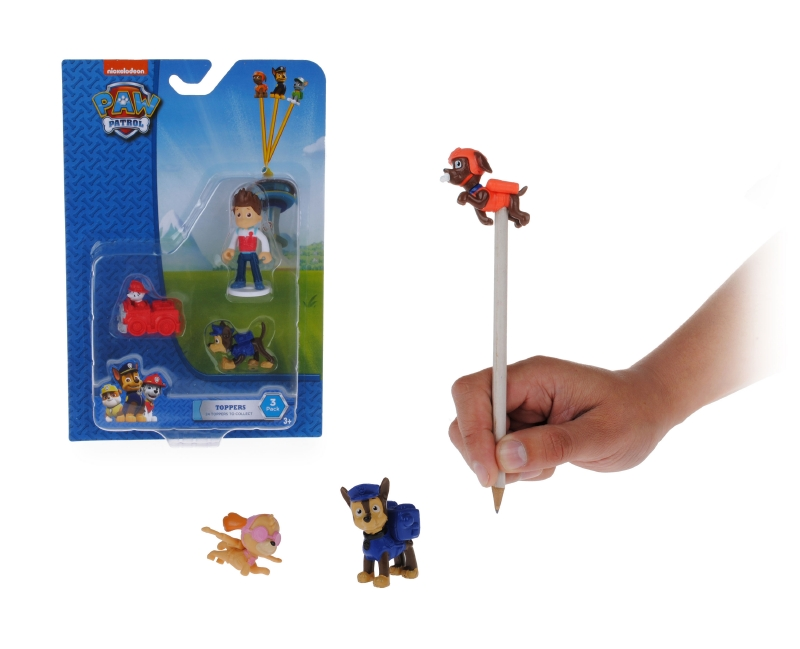 Pack 3 Figuras Pencil Topper Paw Patrol
