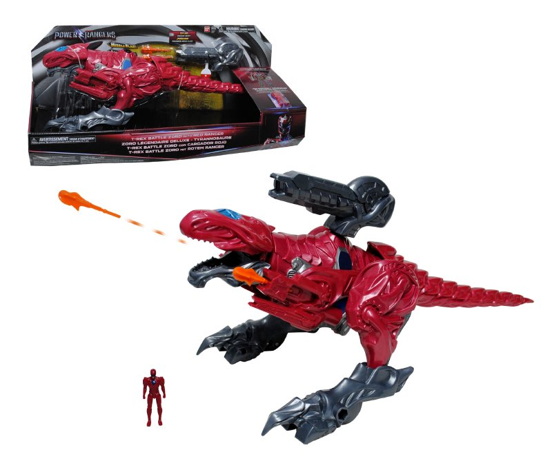 POWER RANGERS Dino Zord Rojo Con Figura 5 Cm. Power R
