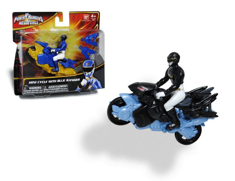 POWER RANGERS Moto Con Figura Power Ranger  Mega Force
