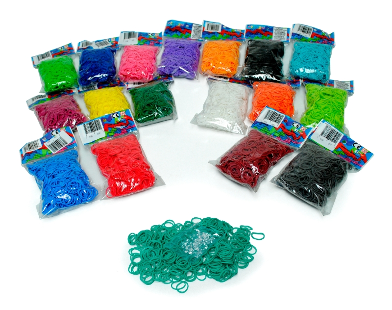 Set 600 Elasticos Basicos Rainbowloom
