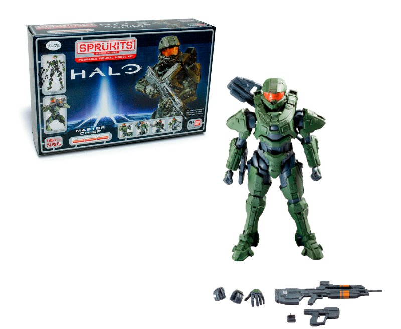 SPRUKITS Figura Armable Master Chief Ac Nivel 3